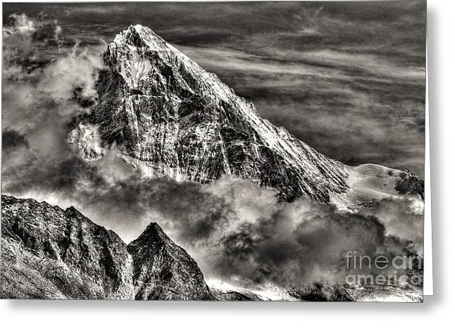 Swiss Photographs Greeting Cards - The Mighty Dent Blanche Switzerland Greeting Card by Colin Woods