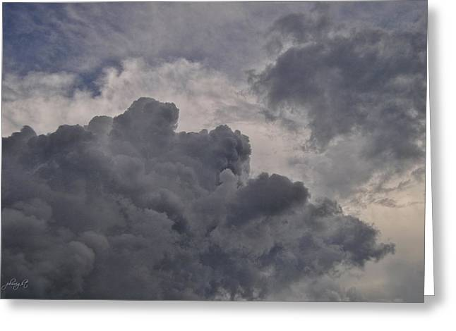 The Mighty Hand Of God Greeting Card by Paulette B Wright