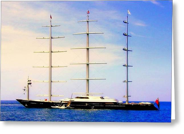 The Mighty Maltese Falcon Greeting Card by KAREN WILES