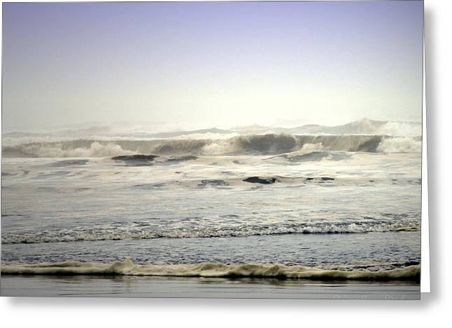 Best Ocean Photography Greeting Cards - The Mighty Pacific Greeting Card by Joyce Dickens