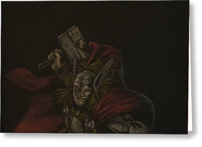 Thor Pastels Greeting Cards - The Mighty Thor Greeting Card by Will Dudley