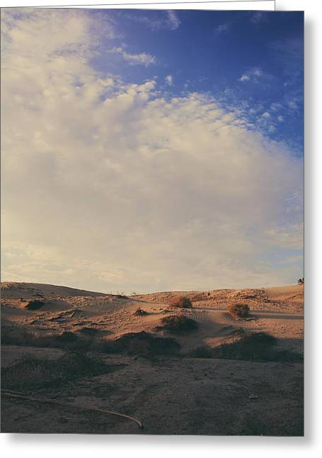 Sand Pattern Greeting Cards - The Miles Between Us Greeting Card by Laurie Search
