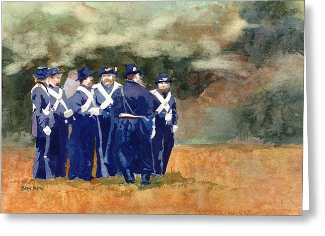 Harpers Ferry Paintings Greeting Cards - The Militia Greeting Card by Kris Parins