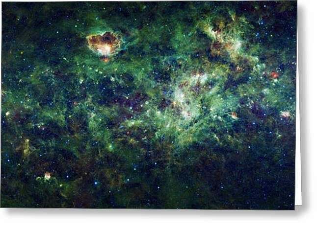 Star Greeting Cards - The Milky Way Greeting Card by Adam Romanowicz