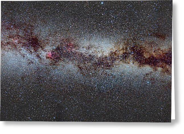 Milky Greeting Cards - The Milky Way from Scorpio and Antares to Perseus Greeting Card by Guido Montanes Castillo