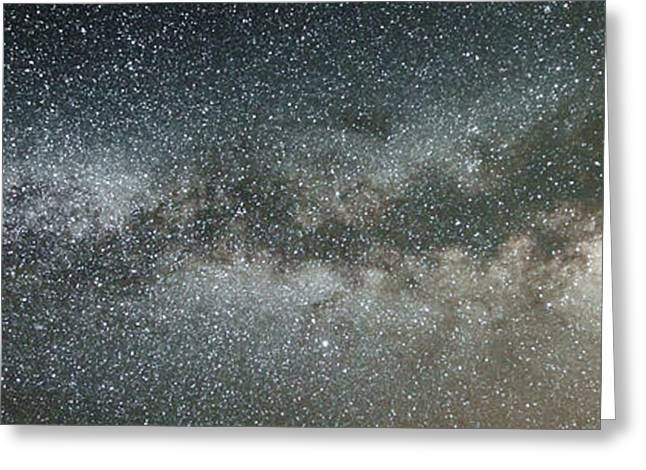Dark Skies Pyrography Greeting Cards - The Milky Way Greeting Card by George Blaney