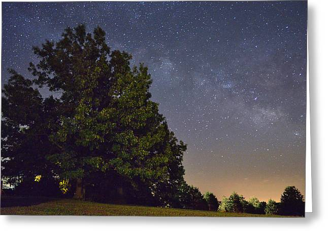 Jeka World Photography Greeting Cards - The Milky Way Greeting Card by Jeff Rose