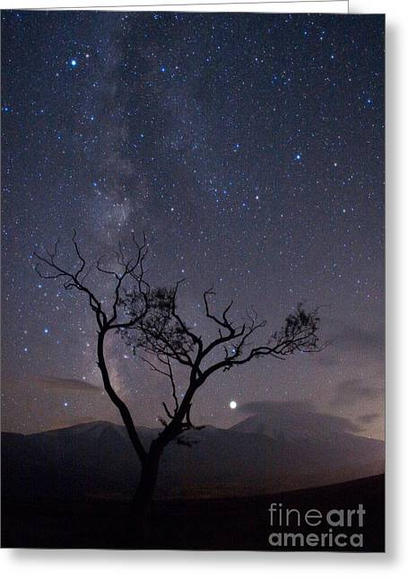 Outerspace Greeting Cards - The Milky Way, Jupiter Greeting Card by Babak Tafreshi