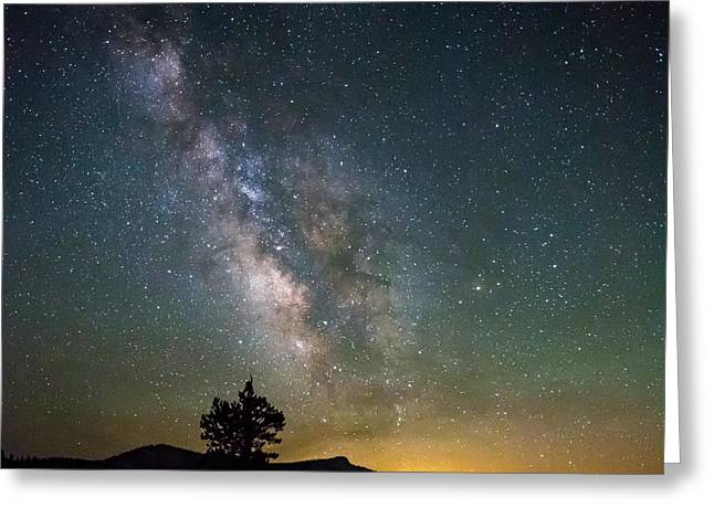 Mike Lee Greeting Cards - The Milky Way meets the Aspen Fire Greeting Card by Mike Lee
