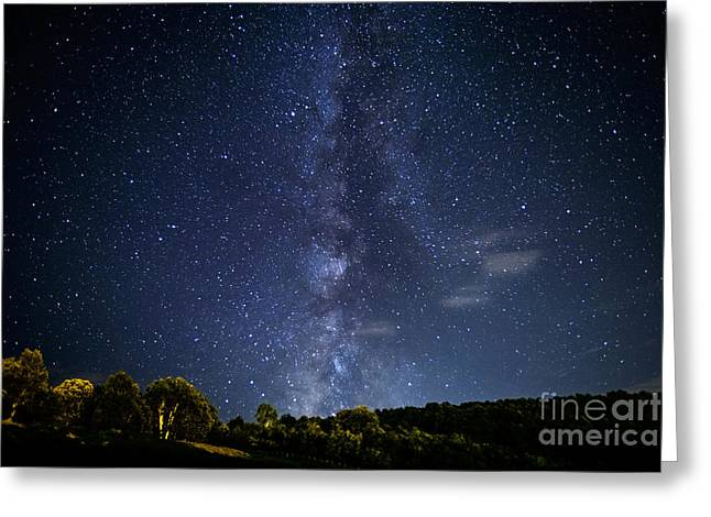 Star Field Greeting Cards - The Milky Way Greeting Card by Thomas R Fletcher