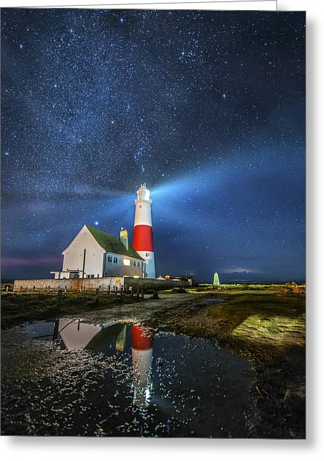Famouse Greeting Cards - The Milkyway Lighthouse Greeting Card by Ollie Taylor