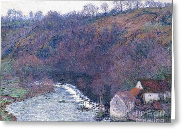 Nature Scene Paintings Greeting Cards - The Mill at Vervy Greeting Card by Claude Monet