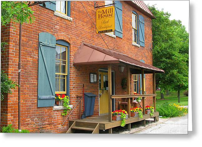 Houses Bed And Breakfast Greeting Cards - The Mill House Bed and Breakfast in Grand Rapids Ohio 3527 Greeting Card by Jack Schultz