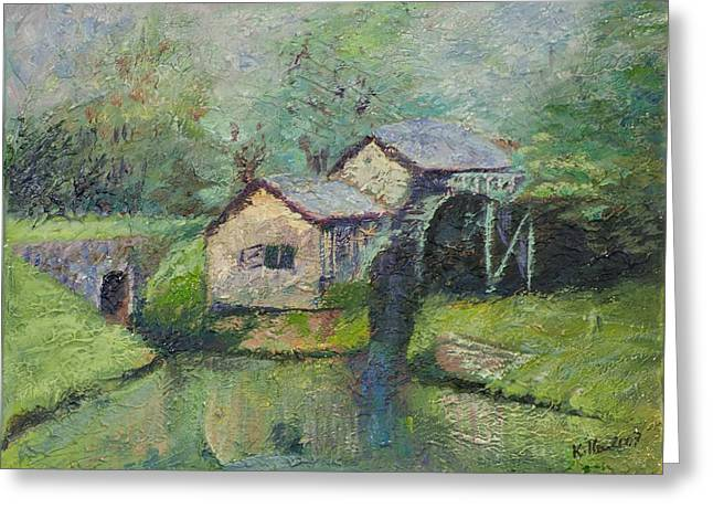 The Mill in the Mist Greeting Card by William Killen