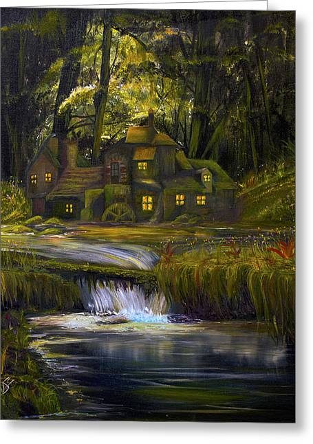 The Mill Greeting Card by James Kruse