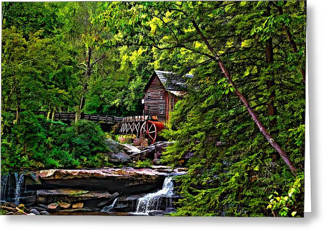 Grist Mill Digital Art Greeting Cards - The Mill paint 2 Greeting Card by Steve Harrington