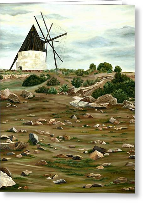 The Mill Greeting Card by Angeles M Pomata
