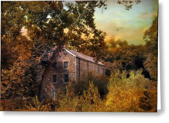 The Mill Restoration Greeting Card by Jessica Jenney