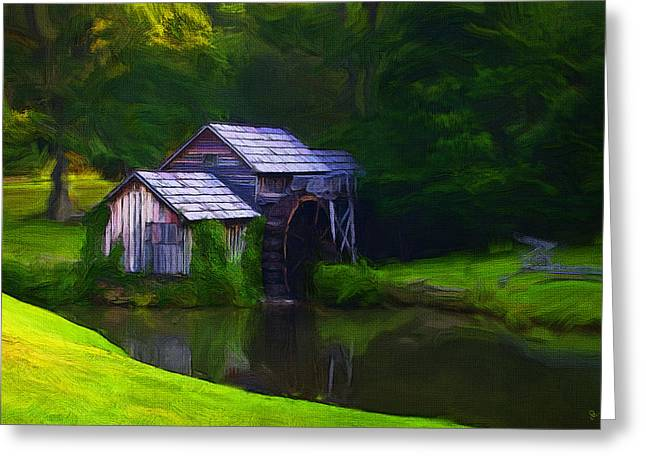 Mills Digital Greeting Cards - The Mill Greeting Card by Ron Jones