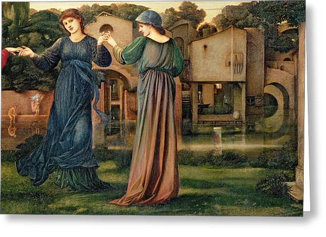 Burne Greeting Cards - The Mill Greeting Card by Sir Edward Burne-Jones