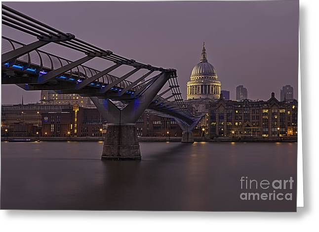 Pete Reynolds Greeting Cards - The Millennium Bridge Greeting Card by Pete Reynolds