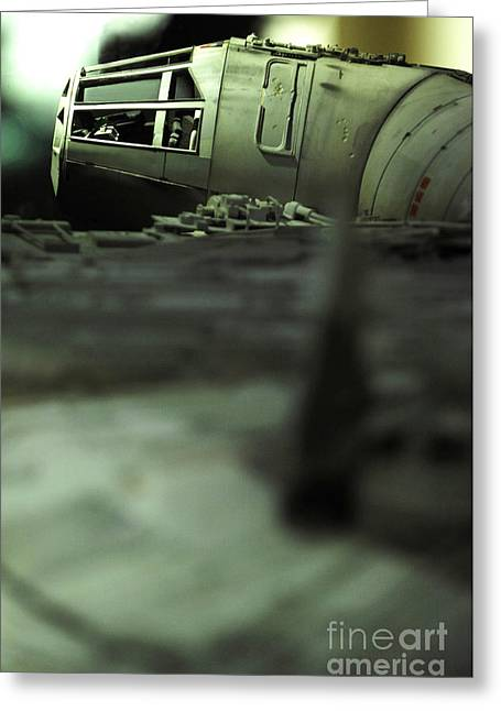 Jet Star Greeting Cards - The Millennium Falcon Greeting Card by Micah May