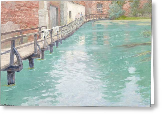 Thaulow Greeting Cards - The Mills at Montreuil sur Mer Normandy Greeting Card by Fritz Thaulow