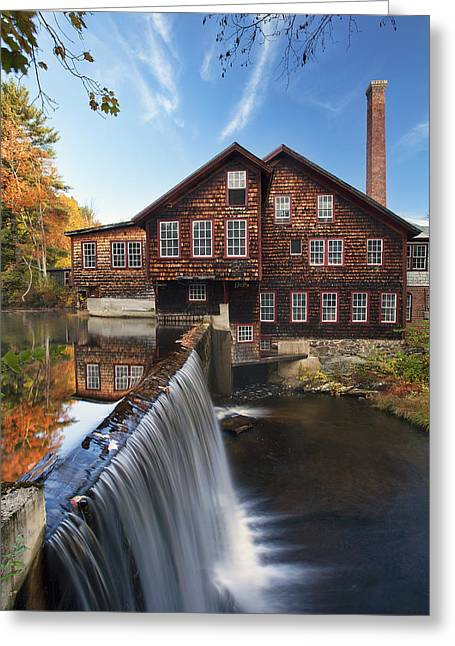 Old Mill Scenes Greeting Cards - The Mills Greeting Card by Eric Gendron