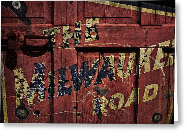 Classic American Railroad Greeting Cards - The Milwaukee Road Railroad Greeting Card by Daniel Hagerman