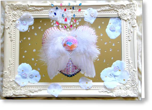 Framed Reliefs Greeting Cards - The mind follows the heart Greeting Card by Heidi Sieber