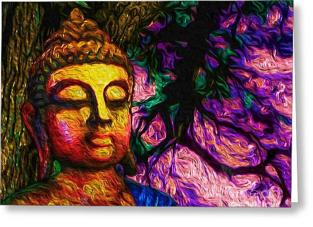 Ying Greeting Cards - The Mind of Buddha Greeting Card by Tarik Eltawil