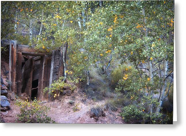 Old Mine Greeting Cards - The Mine Shaft Greeting Card by Lana Trussell