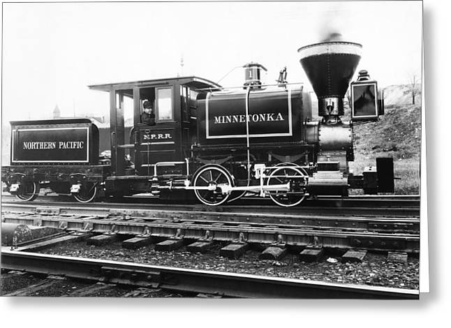 The Minnetonka Locomotive Greeting Card by Underwood Archives