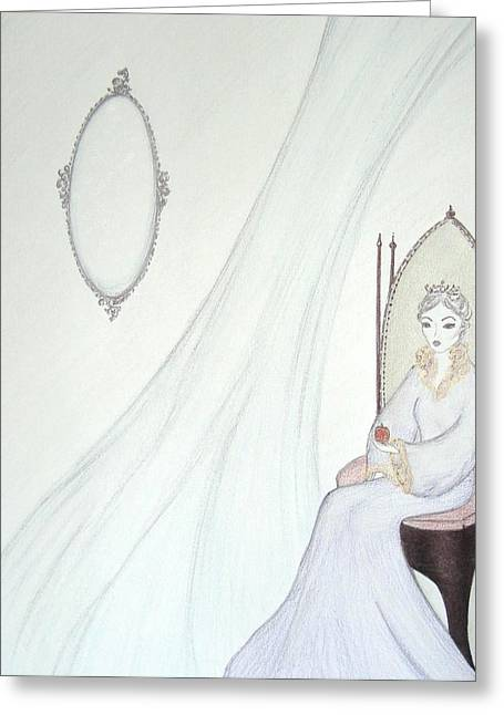 Middle Ages Pastels Greeting Cards - The Mirror has Spoken Greeting Card by Christine Corretti