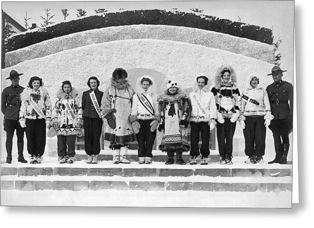The Miss Alaska Competition Greeting Card by Underwood Archives