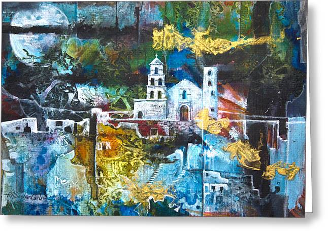 Civilization Mixed Media Greeting Cards - The Mission Greeting Card by Patricia Allingham Carlson