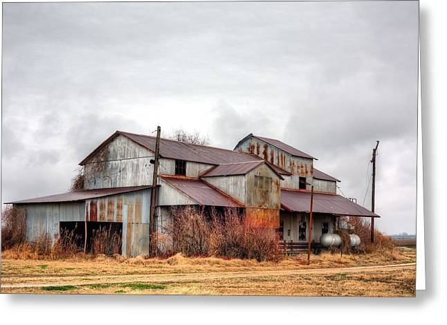The Mississippi Delta Cotton Gin Greeting Card by JC Findley