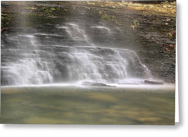 Heber Springs Greeting Cards - The Mist of Cornelius Falls - Heber Springs Arkansas Greeting Card by Jason Politte
