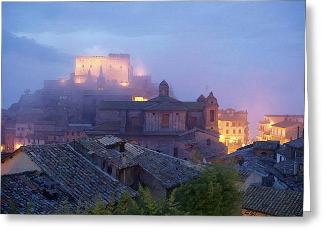 The Mists Of Soriano Greeting Card by Ellen Henneke
