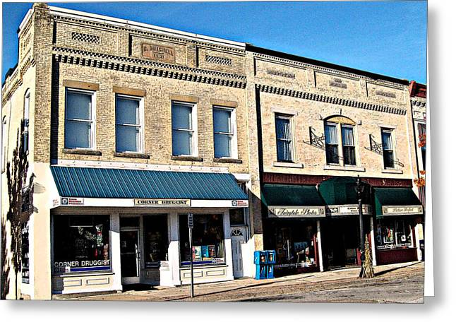 Mj Greeting Cards - The Mitchell Buildings Greeting Card by MJ Olsen