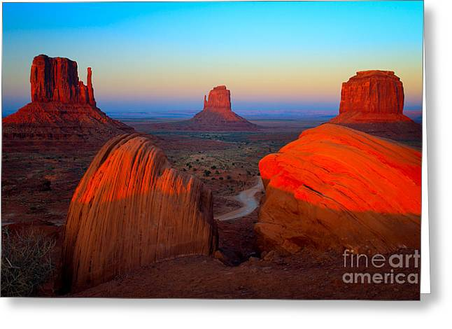 Navajo Greeting Cards - The Mittens Greeting Card by Inge Johnsson