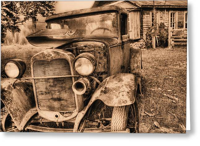 Ford Model T Car Greeting Cards - The Model A Greeting Card by JC Findley