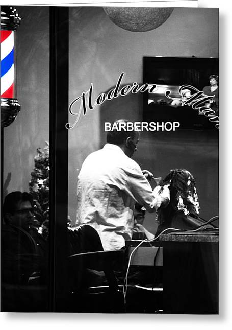 Barbershops Greeting Cards - The Modern Man Greeting Card by Jerry Cordeiro