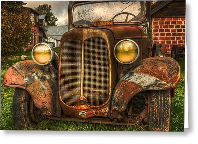 Art For Sale Greeting Cards - The Molalla Truck Greeting Card by Thom Zehrfeld