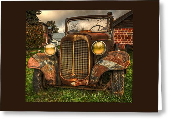 Classic Car Greeting Cards - The Molalla Truck Greeting Card by Thom Zehrfeld