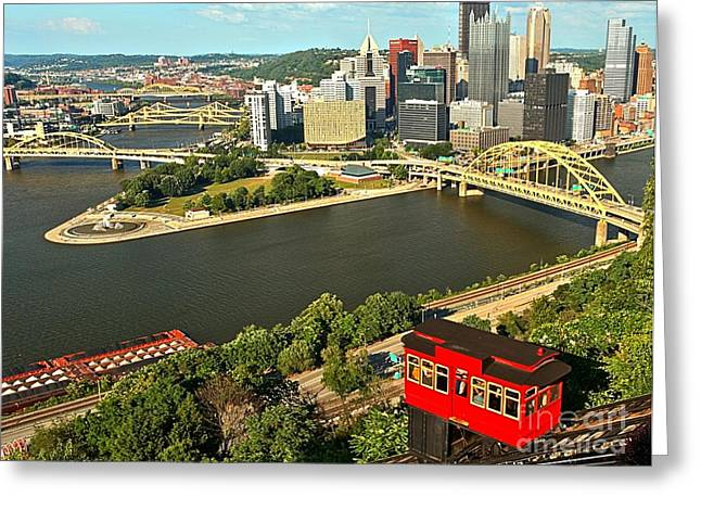 Duquesne Incline Greeting Cards - The Duquesne Incline Greeting Card by Adam Jewell