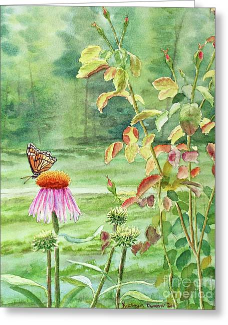 Rose Greeting Cards - The Monarch Rules Greeting Card by Kathryn Duncan