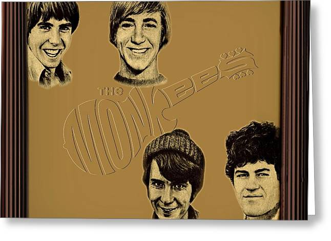 Movie Poster Prints Greeting Cards - The Monkees  Greeting Card by Movie Poster Prints