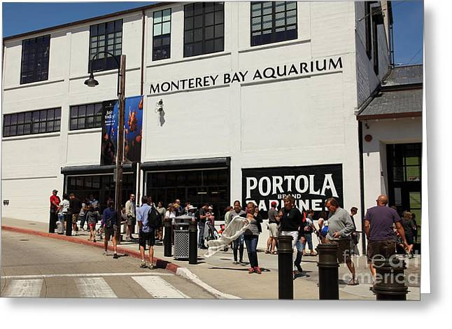 Monterey Canning Company Greeting Cards - The Monterey Bay Aquarium On Monterey Cannery Row California 5D25015 Greeting Card by Wingsdomain Art and Photography