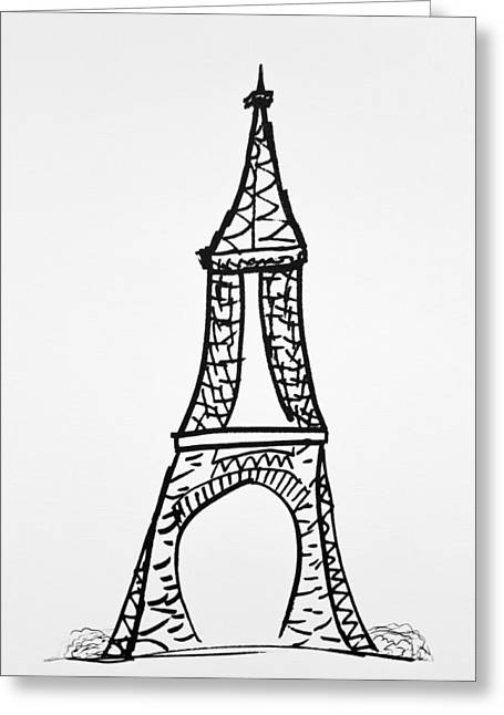 National Icon Drawings Greeting Cards - The Monument Greeting Card by Janelle Yeager